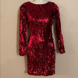 Dress the population Red sequin dress🌟